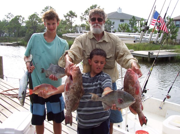 Henry and Hal's Red/Gag Grouper, triggers and snapper