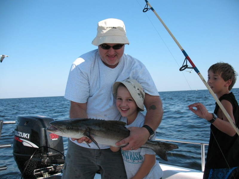 Marcel and Ian's Cobia - safely released