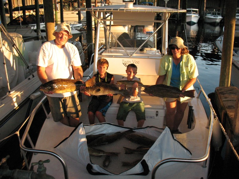 Marcel, Renee, Ian and Josh's grouper